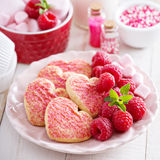 Heart shaped cookies for Valentines day Stock Image