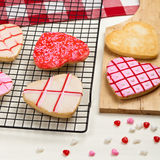 Heart shaped cookies Stock Image