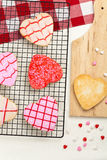 Heart shaped cookies Royalty Free Stock Photography