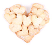Heart shaped cookies on white background Royalty Free Stock Photo