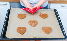 Heart shaped cookies. Royalty Free Stock Photo
