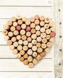Heart Shaped Corks Stock Image