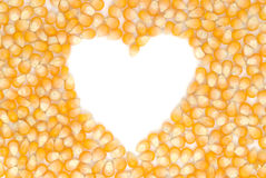 Heart shaped corn seeds Stock Photos