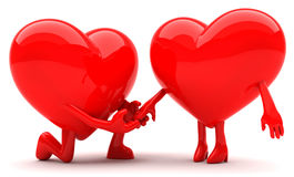 Heart shaped couple Royalty Free Stock Image