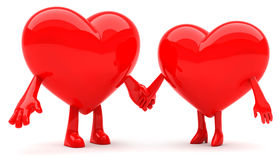 Heart shaped couple Stock Image