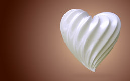 Heart shaped cream, on a gradient background Stock Images
