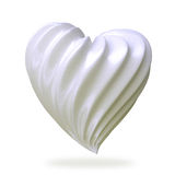 Heart shaped cream, isolated Stock Images