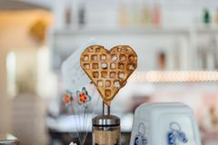 A heart shaped crumpet  Royalty Free Stock Image