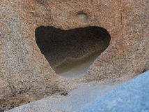 Heart Shaped Cubby in Sand Stone Royalty Free Stock Photo