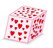 Heart shaped cube Royalty Free Stock Photos