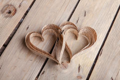 Heart-shaped cutout St Valentines hearts Stock Photos