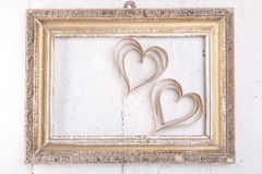 Heart-shaped cutout St Valentines hearts Royalty Free Stock Images