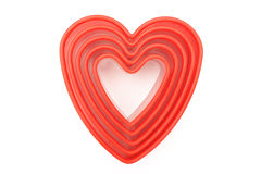 Heart shaped cutters Royalty Free Stock Image