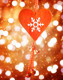 Heart shaped decor for Christmas Stock Photo