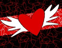 Heart shaped design Royalty Free Stock Image