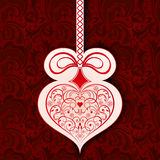 Heart shaped design element Stock Images