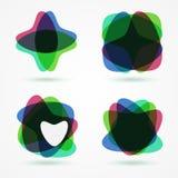Heart-shaped design elements set. Stock Image