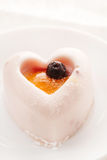 Heart-shaped dessert Stock Photography