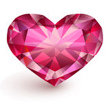 Heart-shaped diamond Stock Image