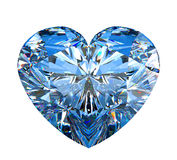 Heart shaped diamond isolated on white Stock Image