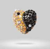 Heart shaped diamond Yin Yang Royalty Free Stock Images