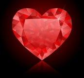 Heart-shaped diamonds Royalty Free Stock Photos