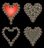 Heart shaped diamonds Stock Photo