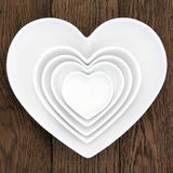 Heart Shaped Dishes Stock Photo