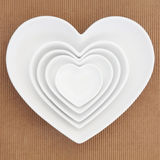 Heart Shaped Dishes Royalty Free Stock Image