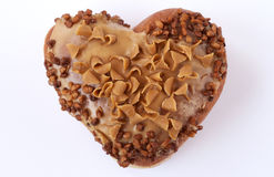 Heart shaped donut Stock Images