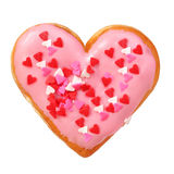 Heart shaped donut isolated royalty free stock images