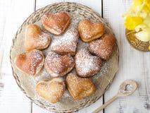 Heart shaped donuts Stock Photography