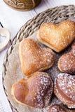 Heart shaped donuts Royalty Free Stock Photography