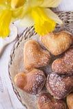 Heart shaped donuts Stock Image