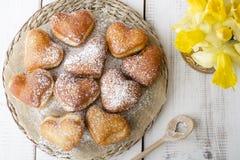Heart shaped donuts Royalty Free Stock Photo