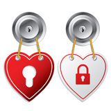 Heart shaped door labels Royalty Free Stock Photography