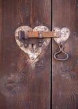 Heart shaped door lock Royalty Free Stock Photo