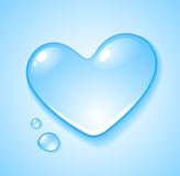 Heart shaped droplet royalty free illustration