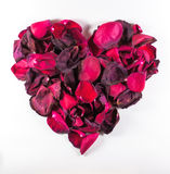 Heart Shaped Dying Rose Petal Pattern Stock Image