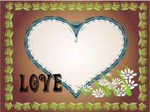 Heart-shaped e amor Ilustração Royalty Free