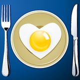 Heart shaped egg Royalty Free Stock Photo
