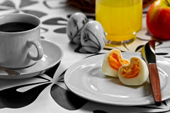 Heart shaped egg Stock Images
