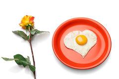 Love is breakfast in bed. Royalty Free Stock Photo