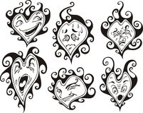 Heart shaped faces Stock Photography