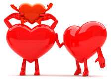 Heart shaped family mascots Stock Photography