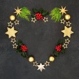 Heart Shaped Festive Christmas Wreath