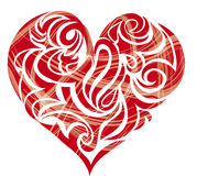 Heart shaped figure. Tribal swirls shaped to heart Royalty Free Stock Photo