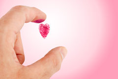 Heart shaped fingerprint Royalty Free Stock Photos
