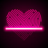 Heart shaped fingerprint scanner Stock Photography