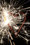Heart shaped firework Royalty Free Stock Photography